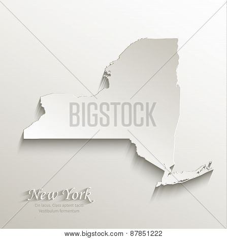 New York map card paper 3D natural vector