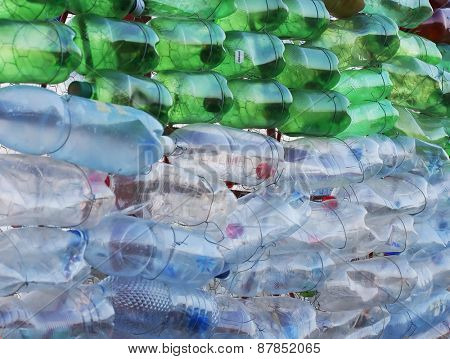 Pet bottles - abstract background