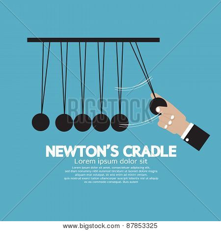 Flat Design Newton's Cradle.