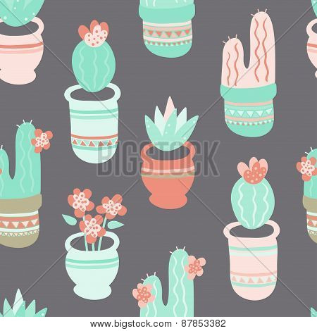 Cactus and Succulent Pattern
