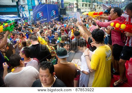 Songkran Crowd