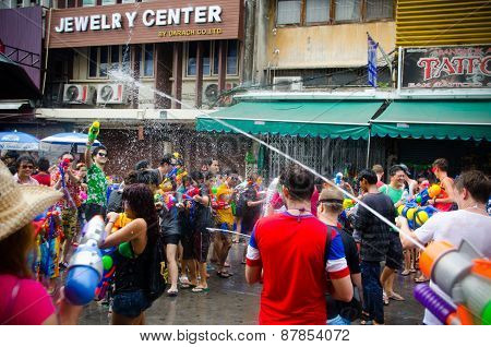 Songkran Water Battle