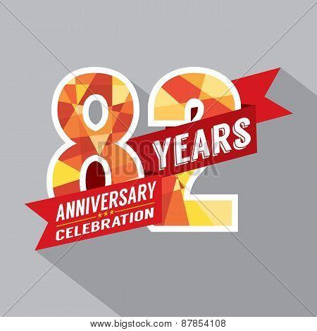 82Nd Years Anniversary Celebration Design.
