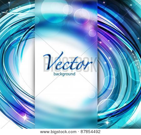 Abstract blurred background with lighting effect. Vector