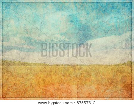 Faded Textured Abstract Landscape Background