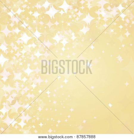 Vector golden stars background.