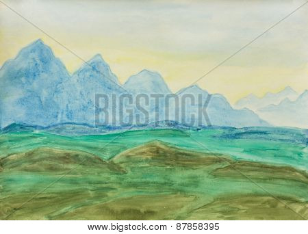 Blue Hills, Painting