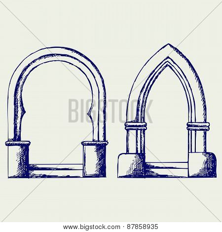 Arch. Doodle style