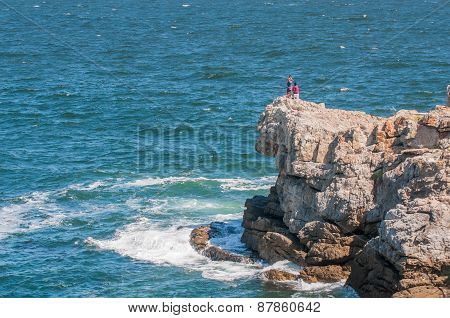 People Enjoying The View At Hermanus