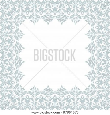 Floral  Frame. Abstract Ornament