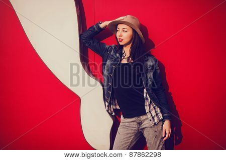 Trendy Beautiful Long Haired Young Model