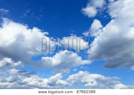 Summer sky with clouds, may be used as background