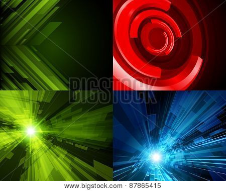 Set vector modern abstract technology backgrounds design can be use for Business Brochure, Flyer, Website Banners, Corporate Report, Presentation, Advertising templates