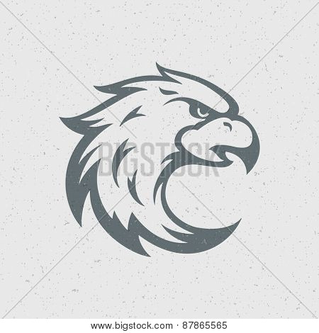 Eagle logo emblem template mascot symbol for business or shirt design. Vector Vintage Design Element.