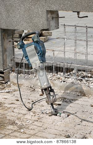 Construction Site, Demolishing With Electric Plugger