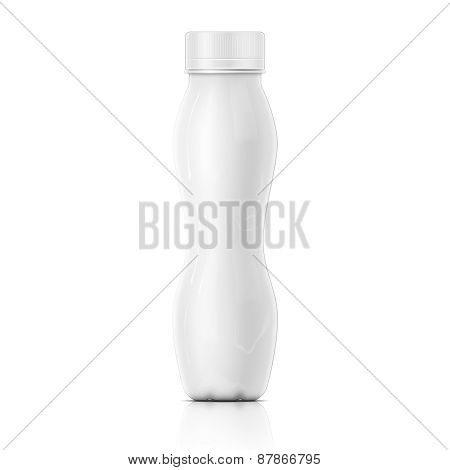 Tall white yougurt bottle template.