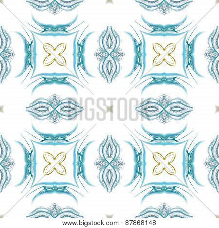 Seamless Kaleidoscope Texture Or Pattern In Blue And Green 2