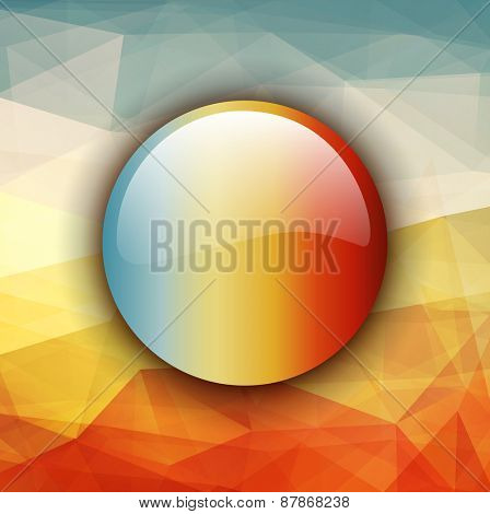Abstract background warm texture design and glossy button.