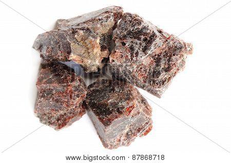 Black Himalayan Salt In Blocks Isolated