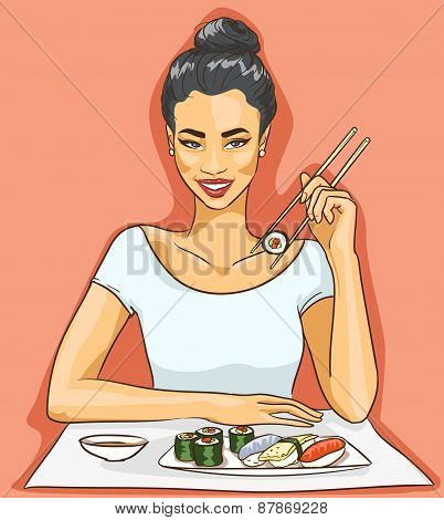 Portrait of beautiful Asian woman.