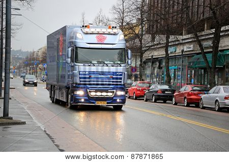 Dutch DAF XF105  Flower Truck In Finland