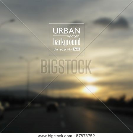 Urban Blurred Photo Background