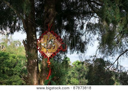 Chinese auspicious hanging on tree