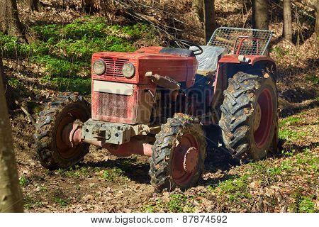 Logging Tractor With Winch