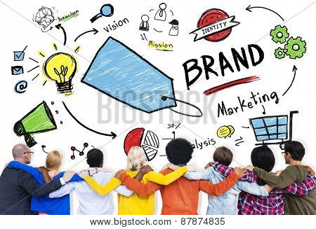 Brand Marketing Global Business Connection Concept