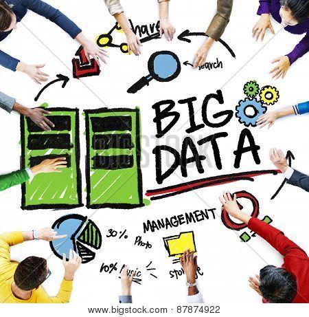 Diversity People Big Data Management Teamwork Discussion Concept