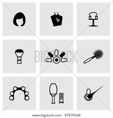 Vector Barber icon set