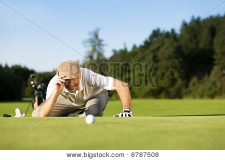 Senior Golf player in summer