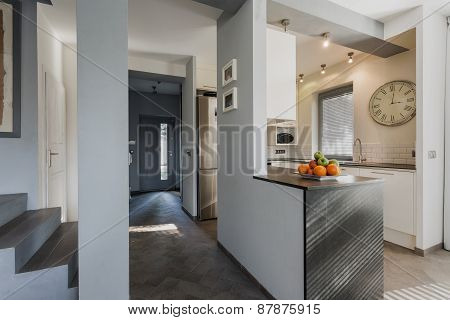 Anteroom And Kitchen