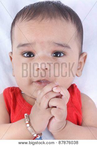 Indian Cute Baby Looking at Camera