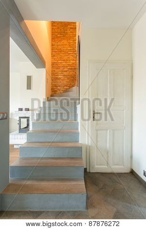 Stairway In Contemporary Detached House