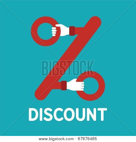 Vector Discount Sign In Flat Style