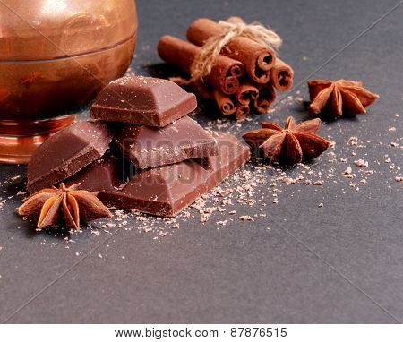 chocolate with cinnamon and spices ET