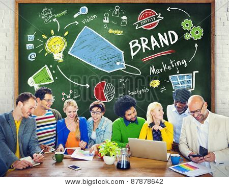 Diverse People Discussion Meeting Marketing Brand Concept