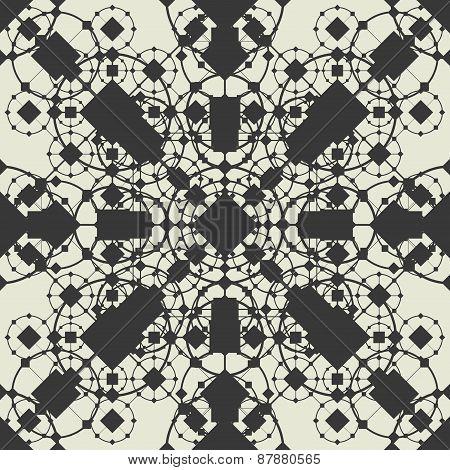 Openwork Geometric Seamless Pattern