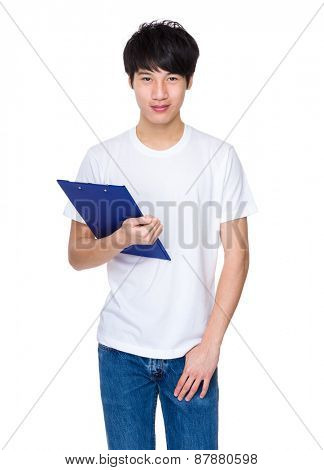 Student with clipboard