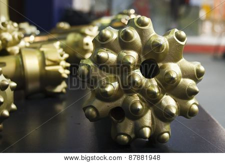 Golden Oil Rig Drill Bit Detail