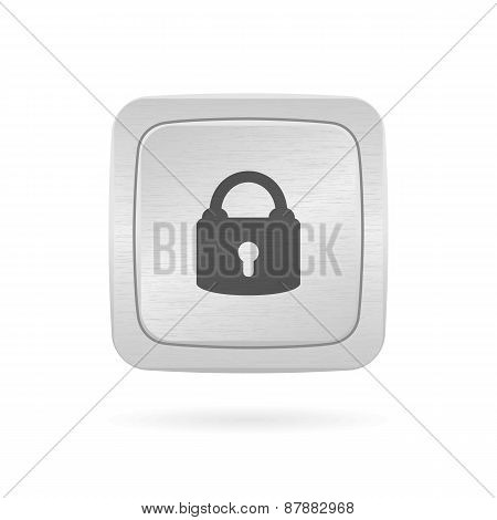 Vector Button With Lock.
