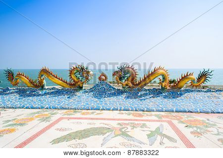 Chinese Dragon Image In Thai-chinese Temple,thailand