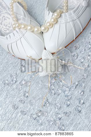 Wedding Shoes With Pearls And Crystals