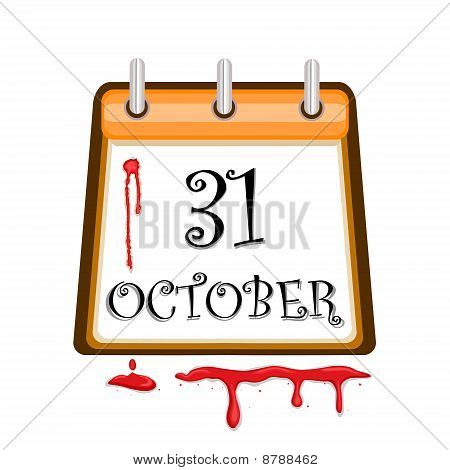 Halloween Bloody Calendar Date