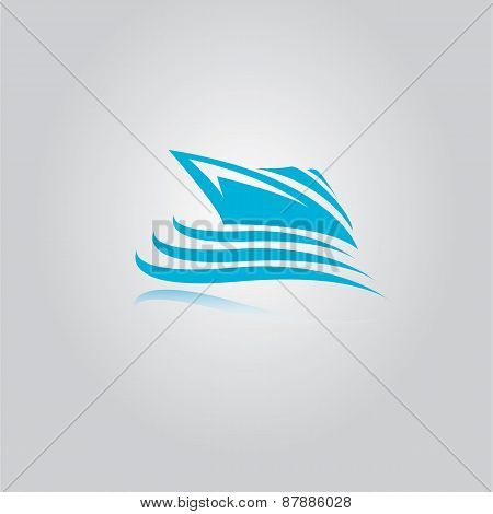 vector yacht icon