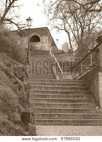 stairs to Vysehrad