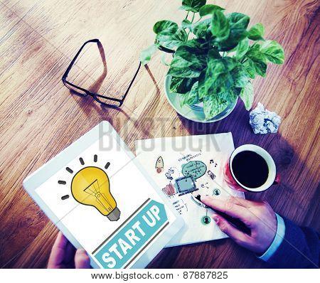 Start Up Ideas Innovation Inspiration Concept