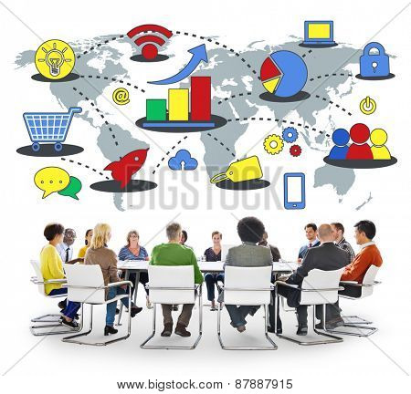 Marketing Global Business Growth Commercial Media Concept