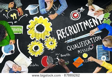 Diversity People Meeting Brainstroming Recruitment Concept
